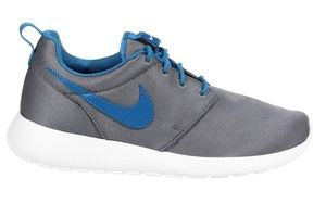 NIKE Roshe Run Trainer Cool Grey Military Blue 5Y